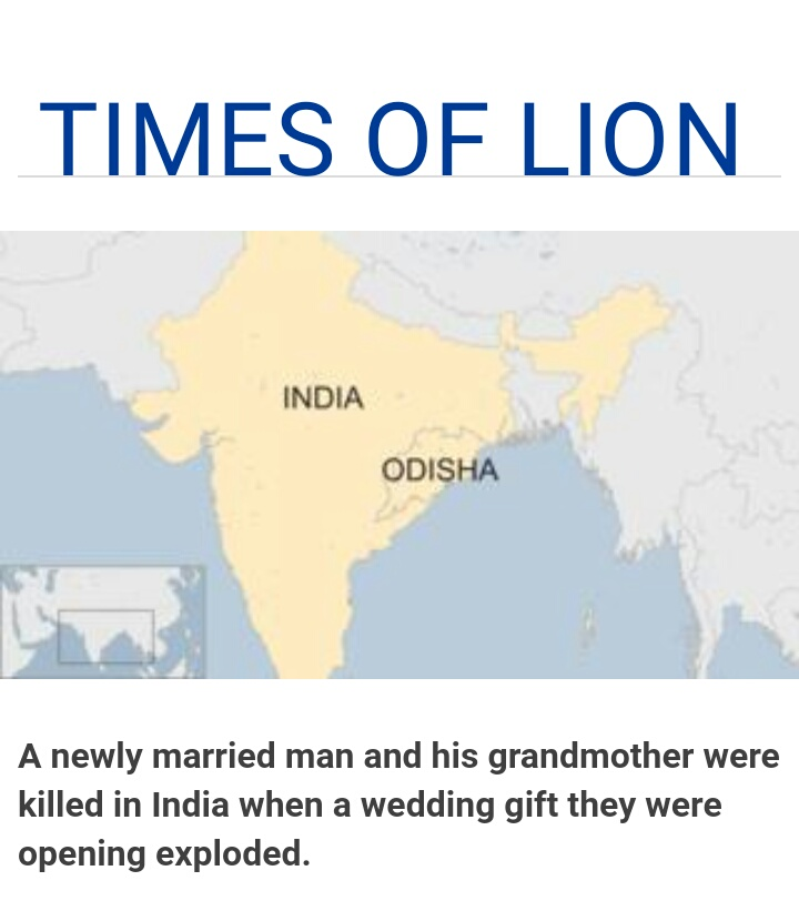 India Groom Killed In Odisha After Wedding Gift Explodes Times Of Lion